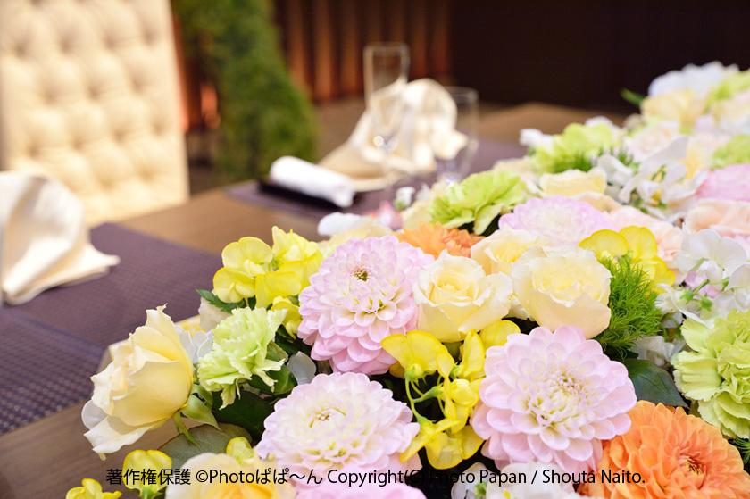 結婚式ブライダルの装花