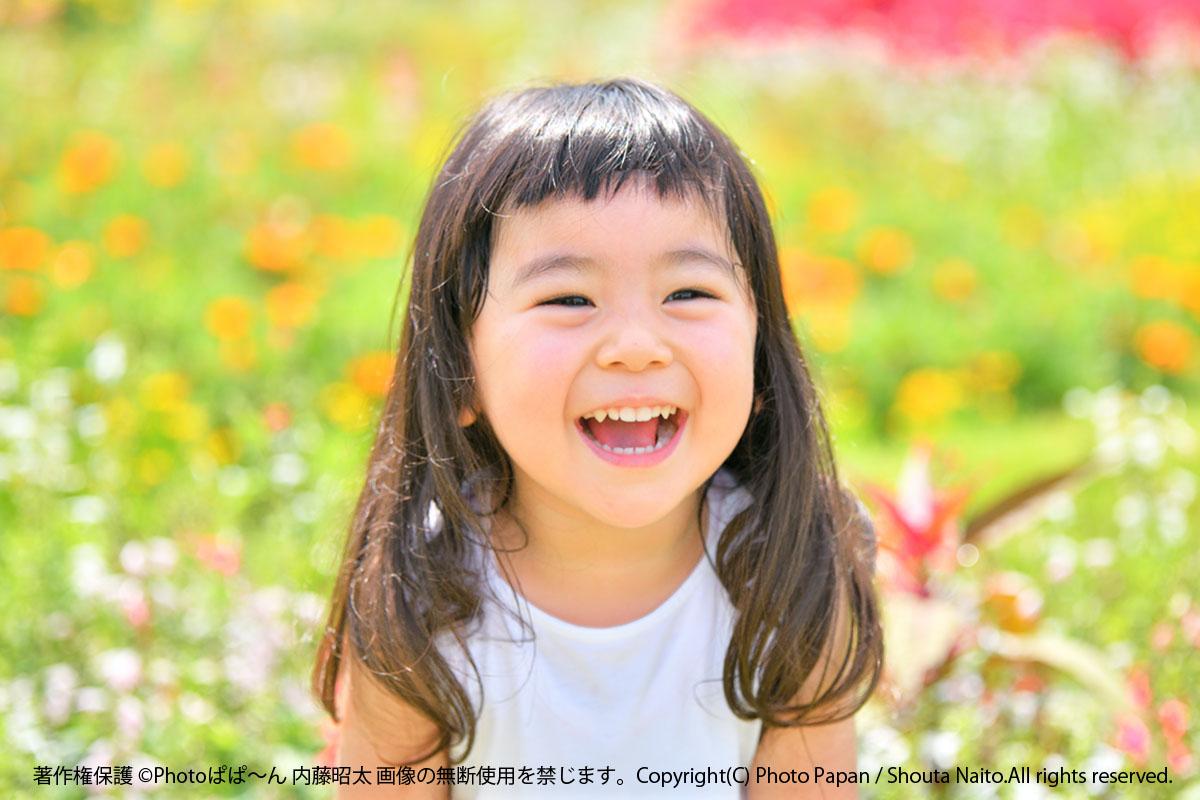 子供の笑顔の写真の撮り方