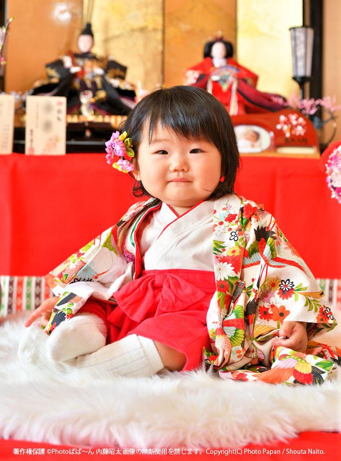 ひなまつり、雛祭り、桃の節句のお祝いの出張写真撮影。