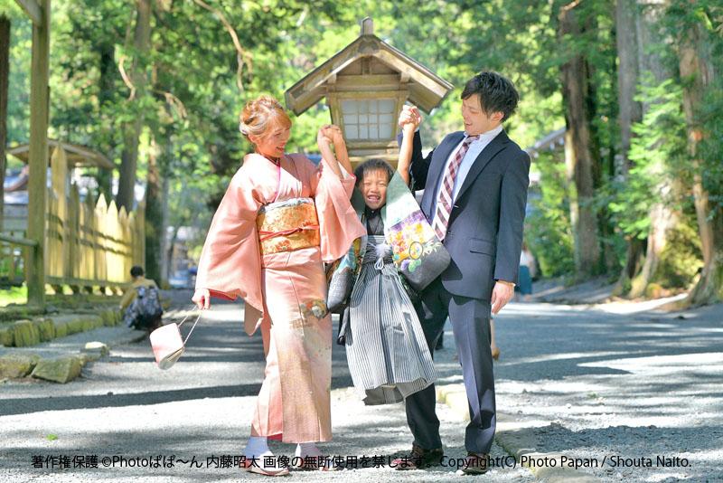 遠州森町の、遠江國一宮 小國神社にて七五三(753)お祝いの写真撮影。