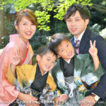 小國神社にて、七五三詣で(753)のご家族写真
