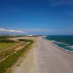ドローン空撮写真、中田島砂丘・遠州灘海岸